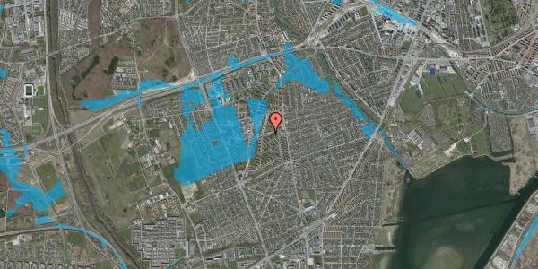 Oversvømmelsesrisiko fra vandløb på Bibliotekvej 25, 2650 Hvidovre