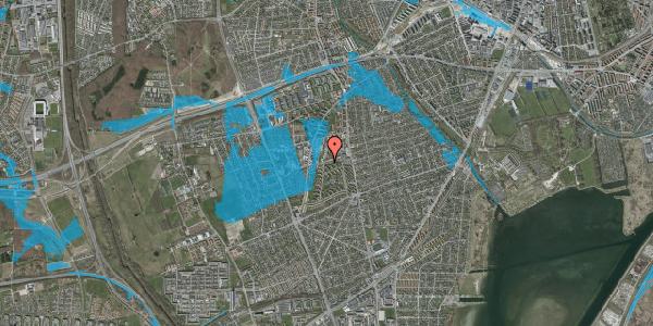 Oversvømmelsesrisiko fra vandløb på Bibliotekvej 35, 2650 Hvidovre