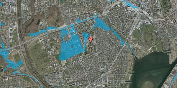 Oversvømmelsesrisiko fra vandløb på Bibliotekvej 44, 2650 Hvidovre