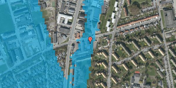 Oversvømmelsesrisiko fra vandløb på Bibliotekvej 49B, 1. , 2650 Hvidovre