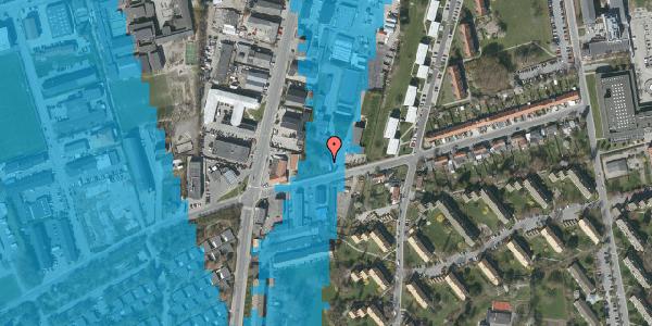 Oversvømmelsesrisiko fra vandløb på Bibliotekvej 52, 2650 Hvidovre