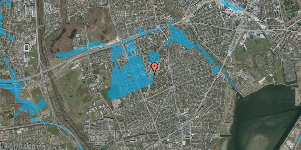 Oversvømmelsesrisiko fra vandløb på Bibliotekvej 55A, 2650 Hvidovre
