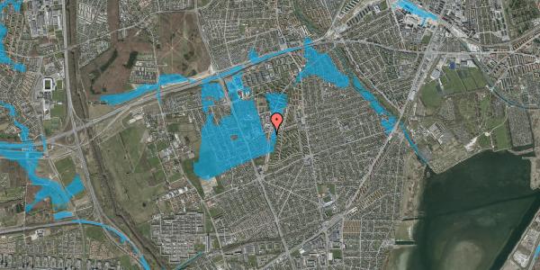 Oversvømmelsesrisiko fra vandløb på Bibliotekvej 55B, kl. , 2650 Hvidovre