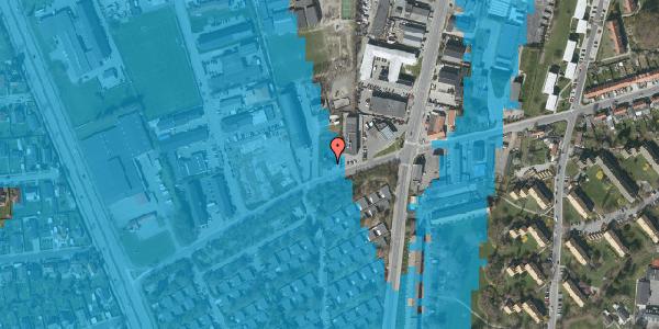 Oversvømmelsesrisiko fra vandløb på Bibliotekvej 60, 1. , 2650 Hvidovre