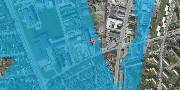 Oversvømmelsesrisiko fra vandløb på Bibliotekvej 62, 1. , 2650 Hvidovre