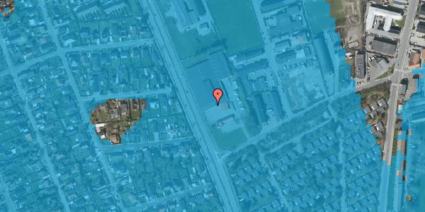 Oversvømmelsesrisiko fra vandløb på Bibliotekvej 70, 2650 Hvidovre