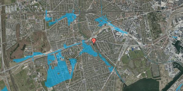 Oversvømmelsesrisiko fra vandløb på Birke Alle 3, 2650 Hvidovre