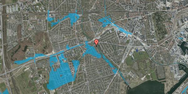 Oversvømmelsesrisiko fra vandløb på Birke Alle 4, 2650 Hvidovre