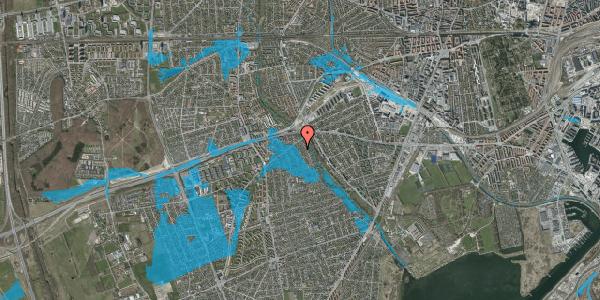 Oversvømmelsesrisiko fra vandløb på Birke Alle 7, 2650 Hvidovre