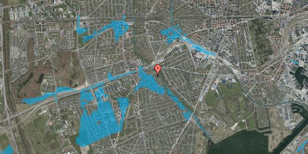 Oversvømmelsesrisiko fra vandløb på Birke Alle 8, 2650 Hvidovre