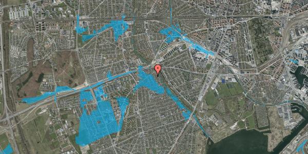 Oversvømmelsesrisiko fra vandløb på Birke Alle 8A, 2650 Hvidovre