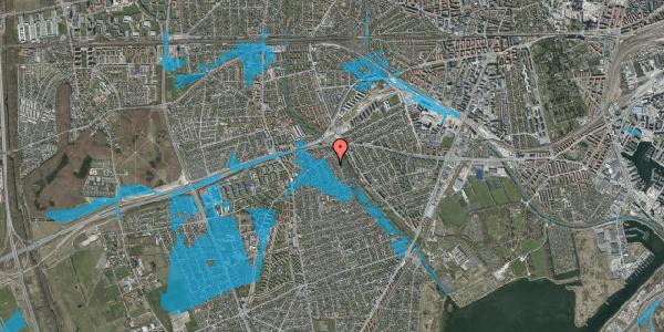 Oversvømmelsesrisiko fra vandløb på Birke Alle 9, 2650 Hvidovre