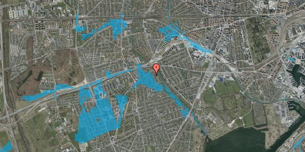 Oversvømmelsesrisiko fra vandløb på Birke Alle 10, 2650 Hvidovre