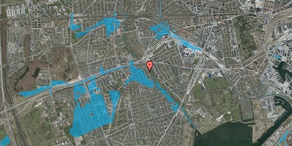 Oversvømmelsesrisiko fra vandløb på Birke Alle 13, 2650 Hvidovre