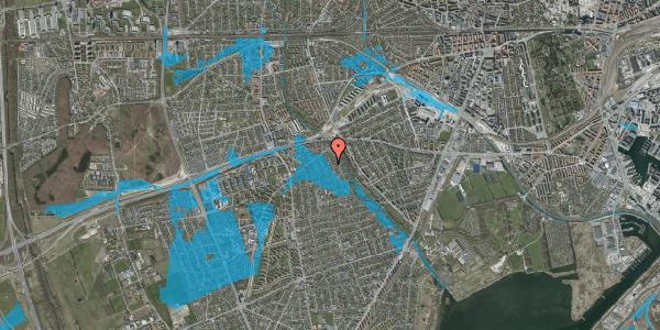 Oversvømmelsesrisiko fra vandløb på Birke Alle 14, 2650 Hvidovre