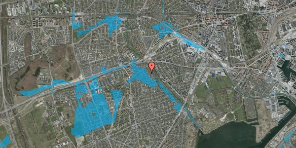 Oversvømmelsesrisiko fra vandløb på Birke Alle 16, 2650 Hvidovre