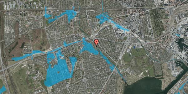 Oversvømmelsesrisiko fra vandløb på Birke Alle 19, 2650 Hvidovre