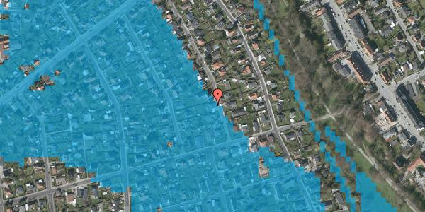 Oversvømmelsesrisiko fra vandløb på Birke Alle 20, 2650 Hvidovre