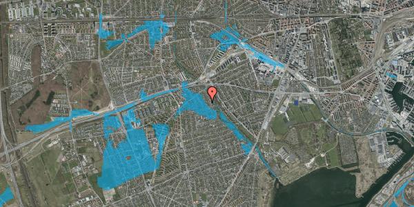 Oversvømmelsesrisiko fra vandløb på Birke Alle 21, 2650 Hvidovre