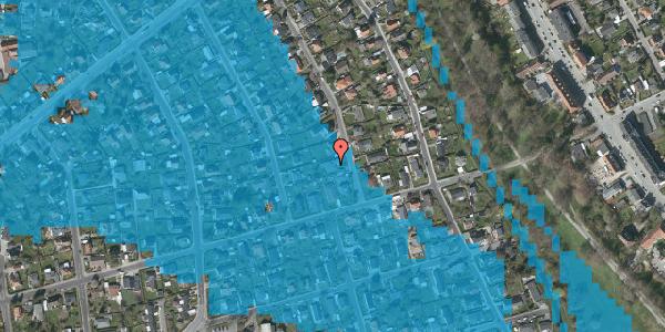 Oversvømmelsesrisiko fra vandløb på Birke Alle 22, 2650 Hvidovre
