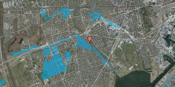 Oversvømmelsesrisiko fra vandløb på Birke Alle 23, 2650 Hvidovre