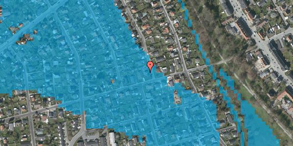 Oversvømmelsesrisiko fra vandløb på Birke Alle 24, 2650 Hvidovre