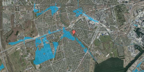 Oversvømmelsesrisiko fra vandløb på Birke Alle 27, 2650 Hvidovre