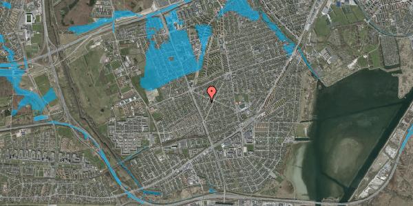 Oversvømmelsesrisiko fra vandløb på Birkendevej 1, 2650 Hvidovre