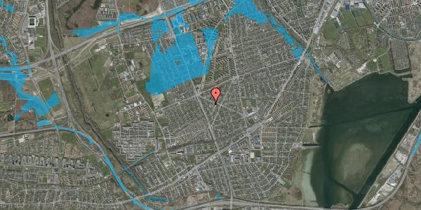 Oversvømmelsesrisiko fra vandløb på Birkendevej 10, 2650 Hvidovre