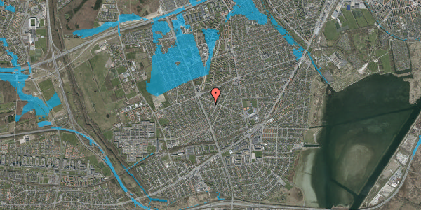 Oversvømmelsesrisiko fra vandløb på Birkendevej 12, 2650 Hvidovre