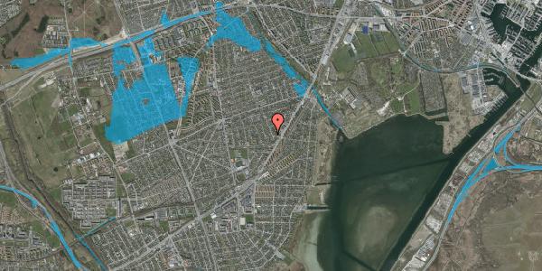 Oversvømmelsesrisiko fra vandløb på Bjergagervej 17, 2650 Hvidovre