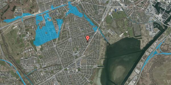 Oversvømmelsesrisiko fra vandløb på Bjergagervej 23, 2650 Hvidovre