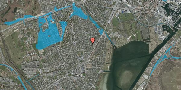 Oversvømmelsesrisiko fra vandløb på Bjergagervej 27B, 2650 Hvidovre