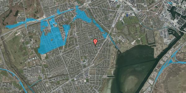 Oversvømmelsesrisiko fra vandløb på Bjergagervej 39A, 2650 Hvidovre
