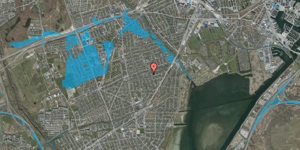 Oversvømmelsesrisiko fra vandløb på Bjergagervej 41B, 2650 Hvidovre