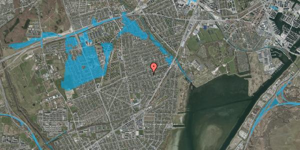Oversvømmelsesrisiko fra vandløb på Bjergagervej 44, 2650 Hvidovre