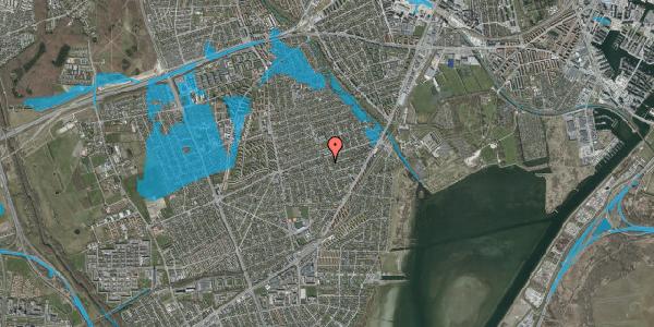 Oversvømmelsesrisiko fra vandløb på Bjergagervej 47, 2650 Hvidovre