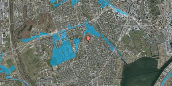 Oversvømmelsesrisiko fra vandløb på Bjeverskov Alle 3, 2650 Hvidovre