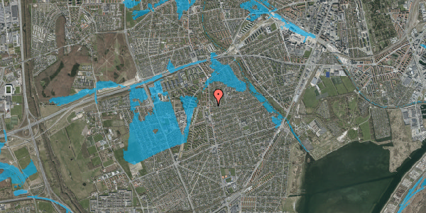 Oversvømmelsesrisiko fra vandløb på Bjeverskov Alle 5, 2650 Hvidovre