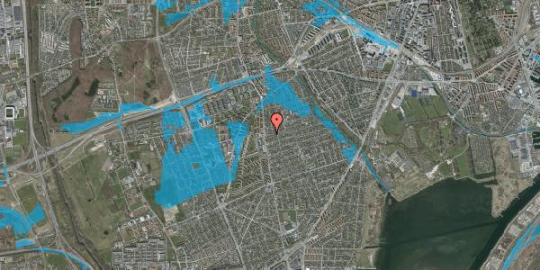 Oversvømmelsesrisiko fra vandløb på Bjeverskov Alle 7, 2650 Hvidovre