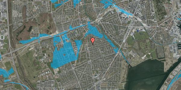 Oversvømmelsesrisiko fra vandløb på Bjeverskov Alle 12, 2650 Hvidovre