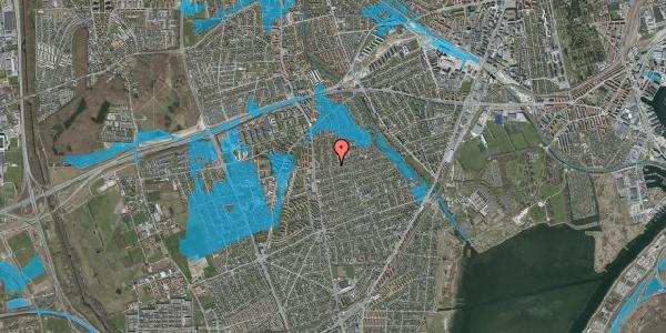 Oversvømmelsesrisiko fra vandløb på Bjeverskov Alle 15, 2650 Hvidovre
