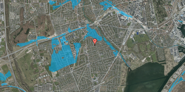 Oversvømmelsesrisiko fra vandløb på Bjeverskov Alle 17, 2650 Hvidovre