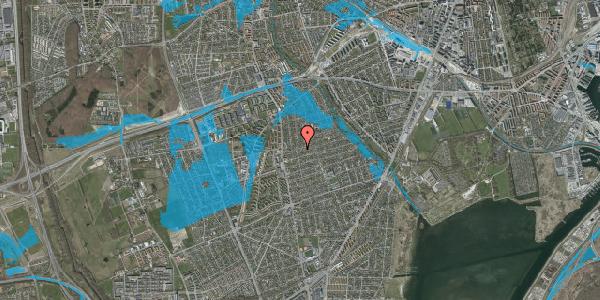 Oversvømmelsesrisiko fra vandløb på Bjeverskov Alle 18, 2650 Hvidovre