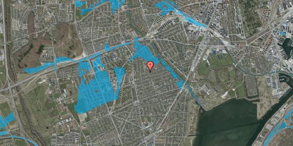 Oversvømmelsesrisiko fra vandløb på Bjeverskov Alle 21, 2650 Hvidovre