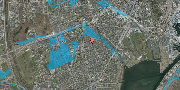 Oversvømmelsesrisiko fra vandløb på Bjeverskov Alle 22A, 2650 Hvidovre