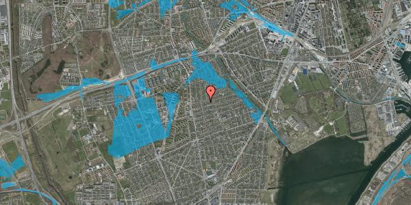 Oversvømmelsesrisiko fra vandløb på Bjeverskov Alle 22B, 2650 Hvidovre