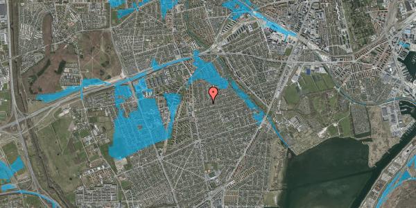 Oversvømmelsesrisiko fra vandløb på Bjeverskov Alle 22C, 2650 Hvidovre