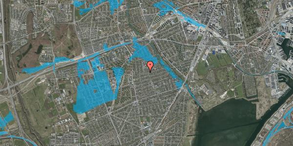 Oversvømmelsesrisiko fra vandløb på Bjeverskov Alle 23, 2650 Hvidovre