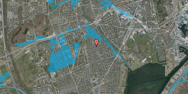 Oversvømmelsesrisiko fra vandløb på Bjeverskov Alle 28, 2650 Hvidovre